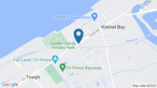 MB Caravans Towyn Map