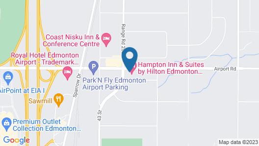 Hampton Inn & Suites Edmonton International Airport Map