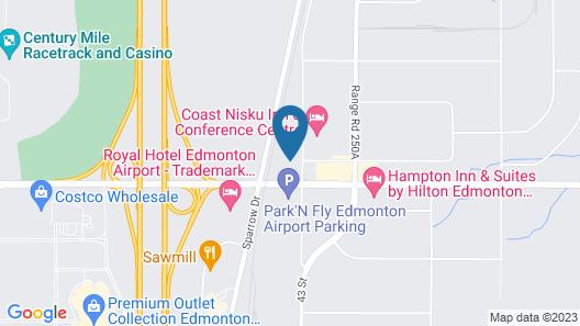Holiday Inn Express & Suites Edmonton International Airport Map