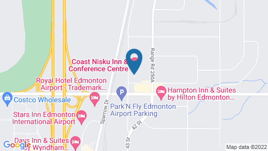 Coast Nisku Inn & Conference Centre Map