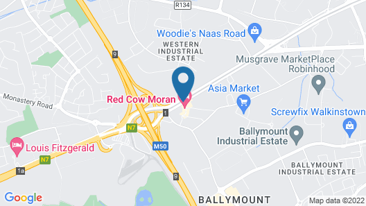 Red Cow Moran Hotel Map