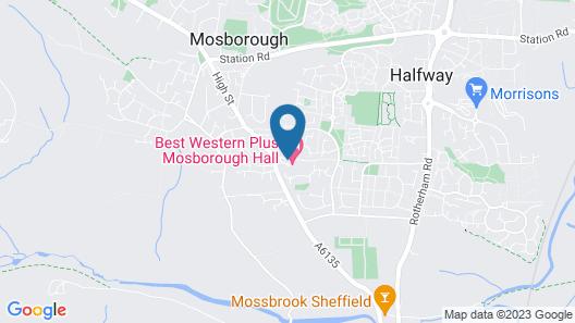 Best Western Plus Sheffield Mosborough Hall Hotel Map