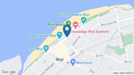 OYO Pier Hotel Rhyl Map