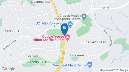 DoubleTree by Hilton Hotel Sheffield Park Map