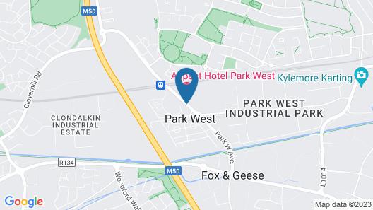 Aspect Hotel Dublin Park West Map