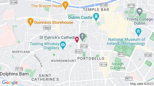 Hyatt Centric The Liberties Dublin Map