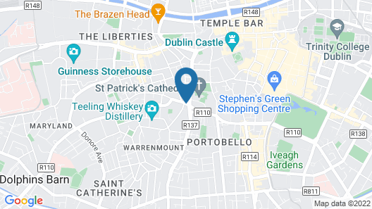 Hyatt Centric The Liberties Dublin Map