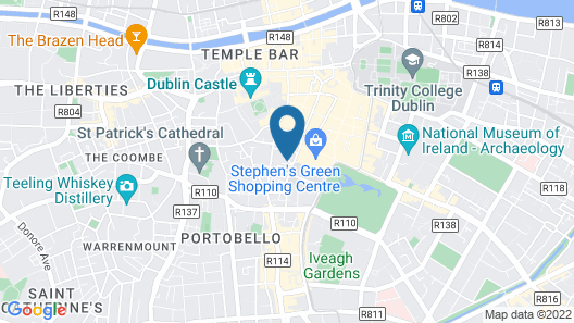 Marlin Hotel Stephens Green Map