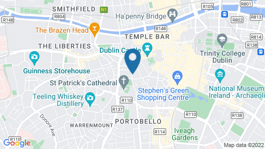 Staycity Aparthotels Dublin Castle Map