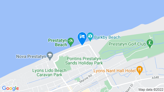 The Beaches Hotel Map