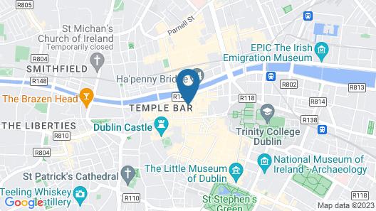 Temple Bar Lane Map