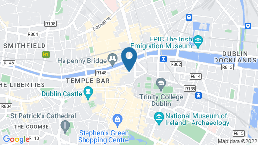 Temple Bar Hotel Map