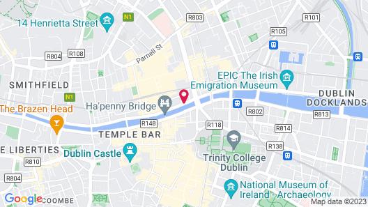 Arlington Hotel O'Connell Bridge Map
