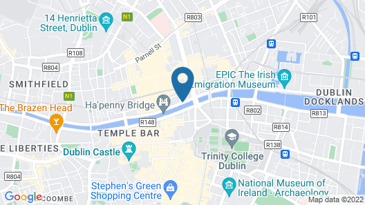 Arlington Hotel O'Connell Bridge Map