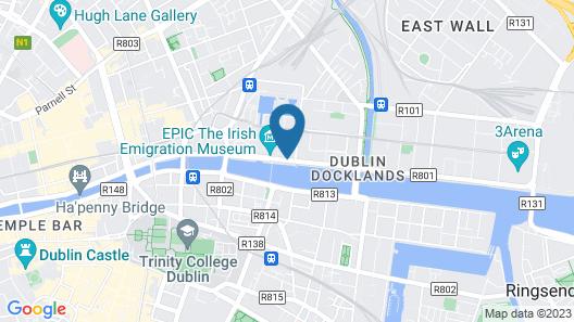 Hilton Garden Inn Dublin Custom House Map