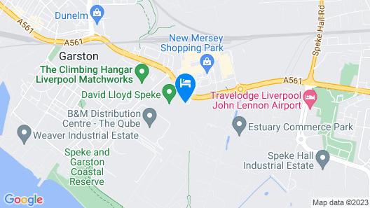 Crowne Plaza Liverpool - John Lennon Airport Map
