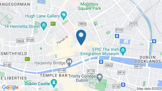 Dublin Central Inn Map