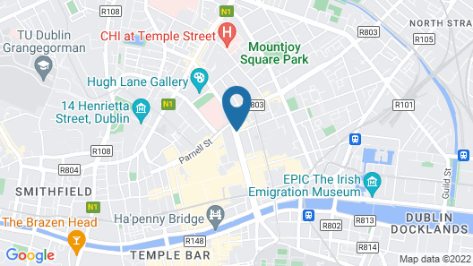 Holiday Inn Express Dublin City Centre Map