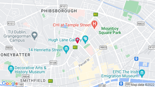 Maldron Hotel Parnell Square Map