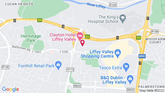 Clayton Hotel Liffey Valley Map