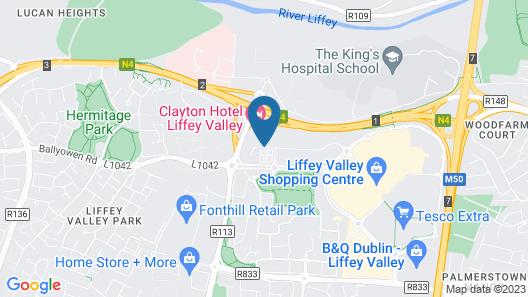 Clayton Hotel Liffey Valley Map