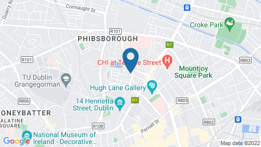 Delightful 1 Bedroom Central Dublin Apartment Map