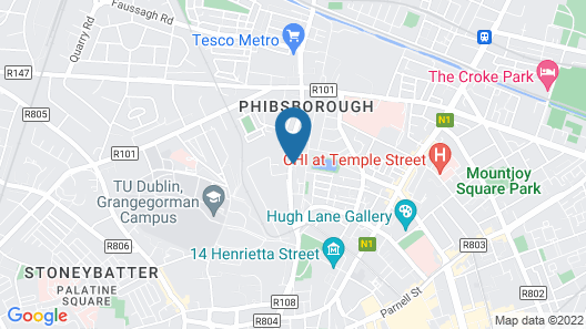 2 Bedroom City Centre House Map