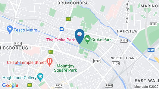 The Croke Park Hotel Map