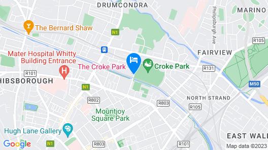 The Croke Park Hotel Map