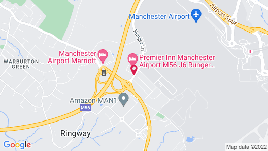 Holiday Inn Express Manchester Airport Map