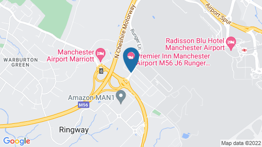 Holiday Inn Express Manchester Airport Map