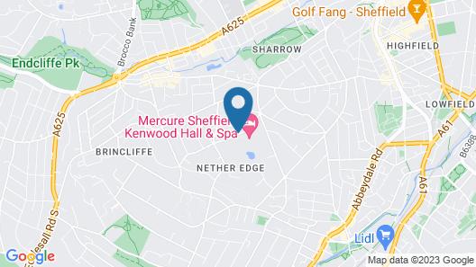 Mercure Sheffield Kenwood Hall & Spa Map