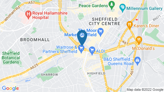 ibis Budget Sheffield Centre St Marys Gate Map