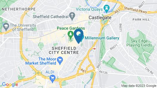 Novotel Sheffield Centre Map