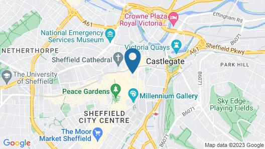 Best Western Sheffield City Centre Cutlers Hotel Map
