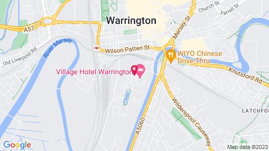 Village Hotel Warrington Map