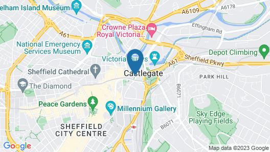 ibis Sheffield City Map
