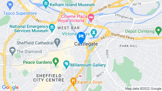 ibis Sheffield City Map