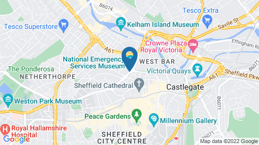 Hampton By Hilton Sheffield Map