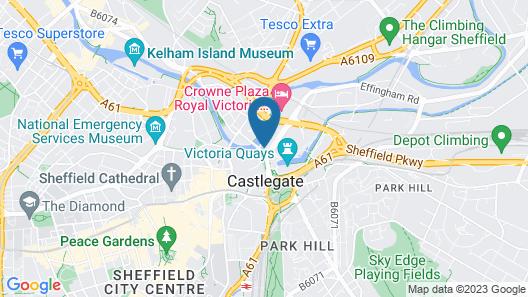 OYO Flagship Sheffield Metropolitan Map