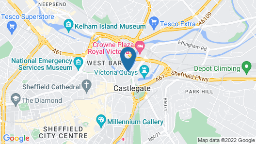 Holiday Inn Express Sheffield City Centre Map