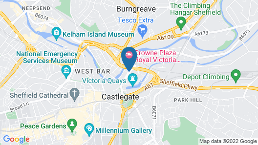 Best Western Plus The Quays Hotel Sheffield Map
