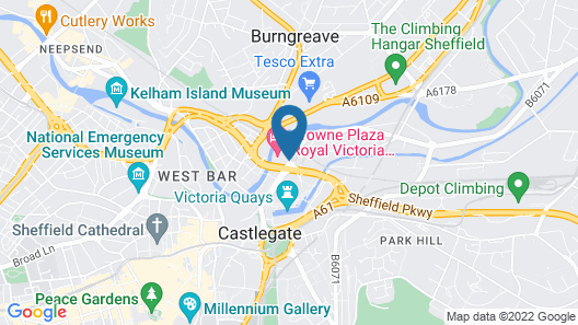 Crowne Plaza Royal Victoria Sheffield Map