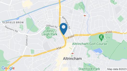 Best Western Manchester Altrincham Cresta Court Hotel Map