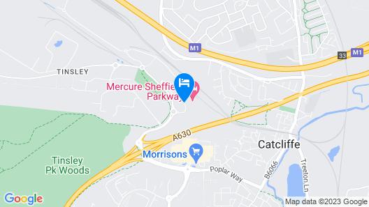 Mercure Sheffield Parkway Map