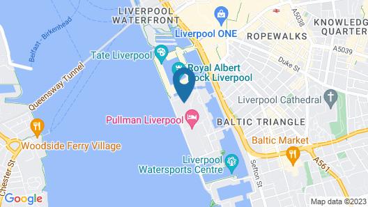 Staybridge Suites Liverpool Map