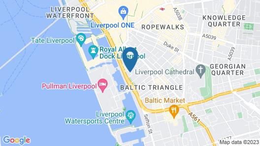 YHA Liverpool Albert Dock - Hostel Map
