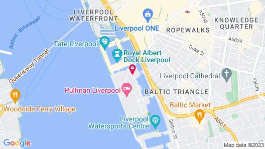 Jurys Inn Liverpool Map