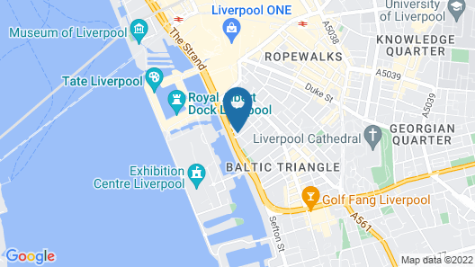 Hampton by Hilton Liverpool City Center Map