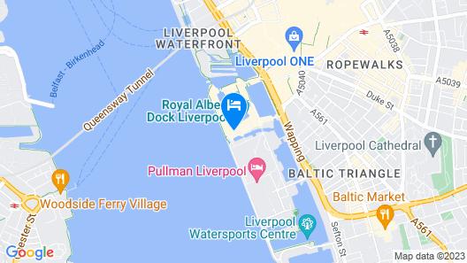 Holiday Inn Express Albert Dock Map